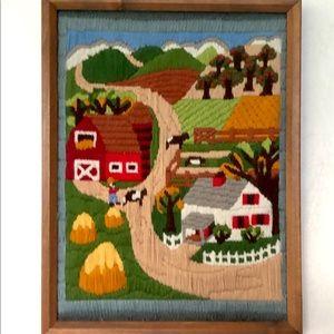 Vintage Americana Farm Picture